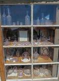 Esposizione porpora antica di vetro di Sun Immagini Stock