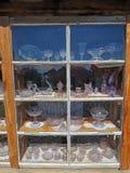 Esposizione porpora antica di vetro di Sun Immagine Stock