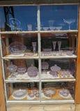 Esposizione porpora antica di vetro di Sun Immagine Stock Libera da Diritti