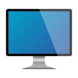 Esposizione realistica del monitor del computer Fotografia Stock