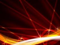Esposizione rossa scintillante del laser   Fotografia Stock