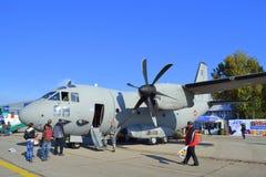 Esposizione statica militare spartana di C-27J Immagini Stock Libere da Diritti