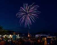 Esposizione in tensione dei fuochi d'artificio Fotografia Stock Libera da Diritti