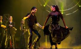 Esposizione ungherese di ballo moderno: Anche banchetto immagine stock