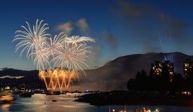 Esposizione Vancouver 2016 dei fuochi d'artificio Immagine Stock Libera da Diritti