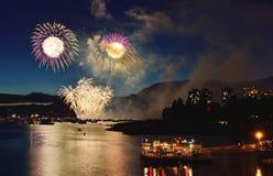Esposizione Vancouver 2016 dei fuochi d'artificio Immagini Stock Libere da Diritti