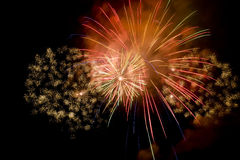 Esposizione variopinta del fuoco d'artificio Immagini Stock Libere da Diritti