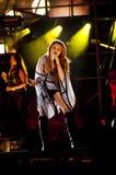 Esposizione zingaresca del cuore di Miley Cyrus nel Brasile Fotografia Stock Libera da Diritti