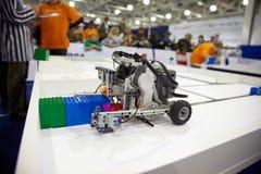 Esposizioni al terzo festival robot Tutto-Russo Fotografia Stock Libera da Diritti