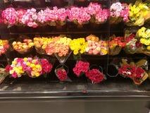 Esposizioni dei fiori variopinti per il giorno del ` s del biglietto di S. Valentino Immagini Stock Libere da Diritti
