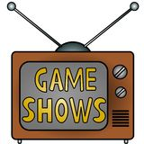 Esposizioni del gioco della TV Immagine Stock