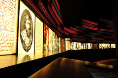 Esposizioni per il museo di diritti umani fotografia stock libera da diritti