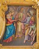 Espousals av jungfruliga Mary och St Joseph lättnad Royaltyfri Bild