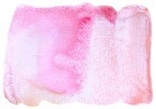 Espray abstracto azul del fondo de la acuarela hecha a mano Fotografía de archivo