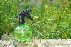 Espray de agua en la hierba Fotografía de archivo libre de regalías