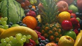 Espray de agua de la pila de la fruta in fine