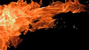 Espray del fuego en la cámara lenta estupenda que aparece almacen de metraje de vídeo