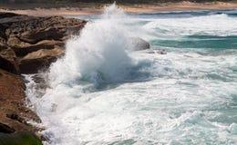 Espray potente de la onda Imagen de archivo