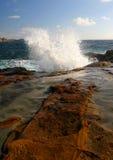 Espray potente de la onda Fotos de archivo