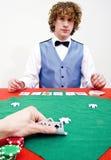 Espreitar em cartões Fotos de Stock Royalty Free