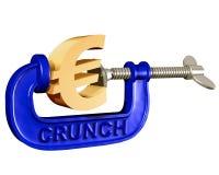 Espremendo o euro ilustração royalty free