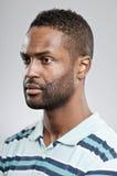 Espressione afroamericana dello spazio in bianco dell'uomo Fotografia Stock Libera da Diritti