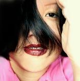 Espressione asiatica fotografia stock libera da diritti