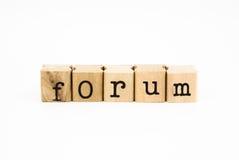 Espressione del forum, istruzione e concetto di affari Immagine Stock Libera da Diritti