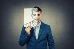Espressione del fronte del pellame Fotografia Stock