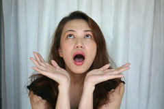 Espressione del fronte della donna immagini stock