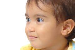 Espressione dell'accumulazione del bambino Immagine Stock