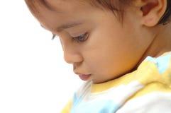 Espressione dell'accumulazione del bambino Immagini Stock Libere da Diritti