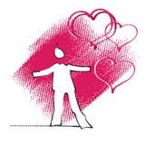 Espressione dell'amore, icona semplice Fotografia Stock Libera da Diritti