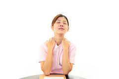 Espressione dell'infermiere malinconico Fotografie Stock Libere da Diritti