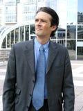 Espressione dell'uomo d'affari Fotografia Stock