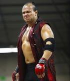 Espressione dell'uomo del lottatore Fotografia Stock