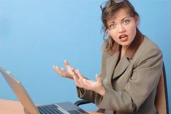 Espressione della donna di affari Fotografie Stock Libere da Diritti