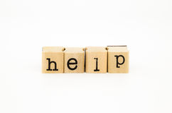 Espressione di aiuto, aiuto e concetto di sostegno Immagine Stock Libera da Diritti