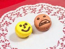 Espressione di Macaron Immagine Stock