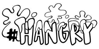 Espressione di parola per hangry illustrazione di stock