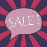 Espressione di vendita nel discorso comico della bolla Royalty Illustrazione gratis