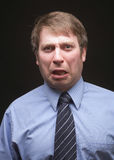 espressione divertente dell'uomo d'affari Fotografia Stock
