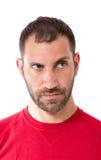 Espressione facciale dell'uomo Fotografia Stock