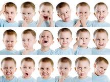 Espressione facciale multipla Fotografia Stock