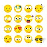 Espressione facciale sorridente, icona, emozione Illustrazione di vettore Fotografie Stock