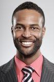 Espressione felice dell'uomo afroamericano Fotografia Stock