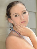 Espressione graziosa dell'adolescente Fotografia Stock