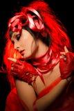 Espressione nel colore rosso Fotografie Stock