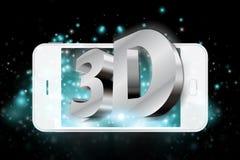 Espressione tridimensionale sullo smartphone Fotografie Stock