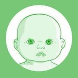 Espressione verde del bambino Fotografia Stock Libera da Diritti